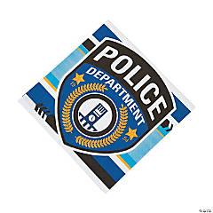 Paper Police Party Luncheon Napkins