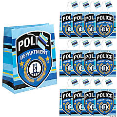 Paper Police Party Medium Gift Bags