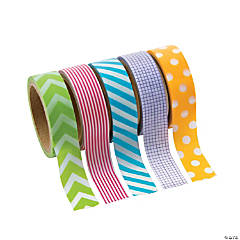 Paper Primary Patterned Washi Tape Set