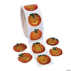 Paper Prism Pumpkin Stickers