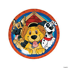 Paper Puppy Party Dinner Plates