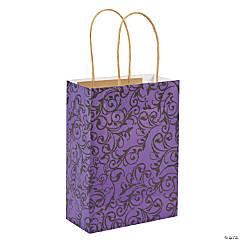 Paper Purple And Black Kraft Bags