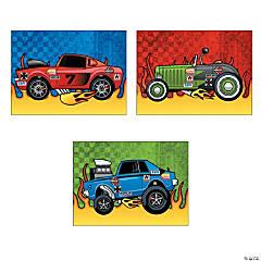 Paper Race Car Sticker Scenes