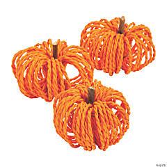 Paper Raffia Pumpkins