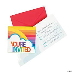 Paper Rainbow Invitations
