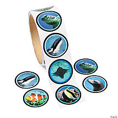 Paper Realistic Photo Ocean Life Sticker Roll