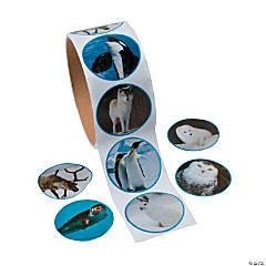 Paper Realistic Photo Polar Animal Sticker Roll