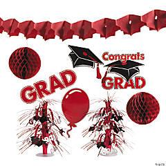 Paper Red Graduation Decorating Kit