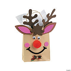 Paper Reindeer Small Gift Bag Craft Kit