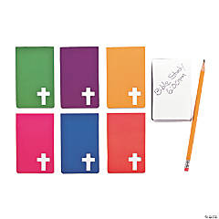 Paper Religious Notepads with Cross Cutout