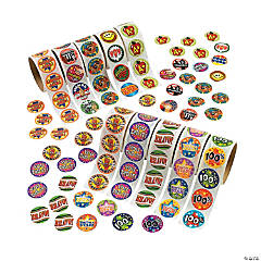 Paper Reward Rolls of Stickers Assortment
