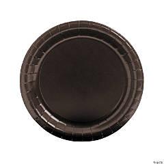 Paper Round Chocolate Brown Dinner Plates