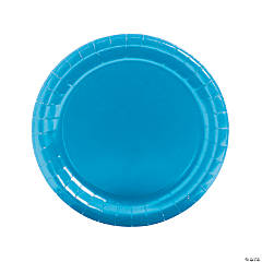 Paper Round Turquoise Dinner Plates
