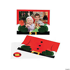 Paper Santa Photo Holder Greeting Cards