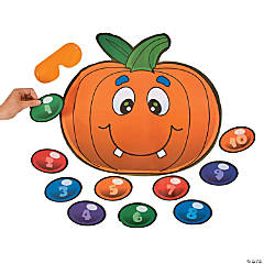Paper Silly Pin the Nose on the Pumpkin Game