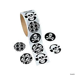 Paper Skull Sticker Rolls