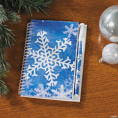Paper Snowflake Spiral Notepad & Pen Sets