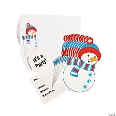 Paper Snowman Invitations - 12 pcs.