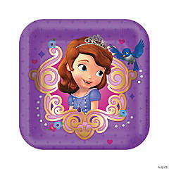 Paper Sofia The First Dessert Plates