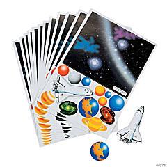 Paper Solar System Sticker Scenes