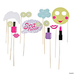Paper Spa Party Photo Stick Props