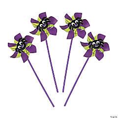 Paper Spider Pinwheels