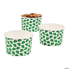 Paper St. Patrick's Day Snack Cups