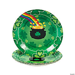 Paper St. Patrick's Day Rainbow Dessert Plates