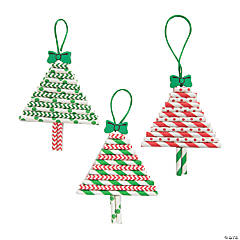 Paper Straw Christmas Tree Ornament Craft Kit