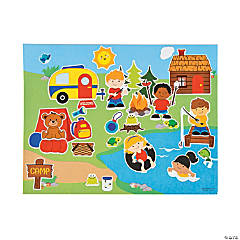 Paper Summer Camp Sticker Scenes