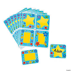 Paper Super Star Name Tags/Labels