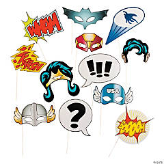 Paper Superhero Photo Booth Props