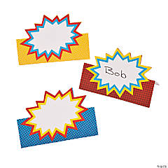 Paper Superhero Place Cards