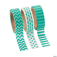 Paper Teal Washi Tape Set