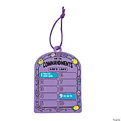 "Paper ""Ten Commandments"" Magic Color Scratch Tablets"