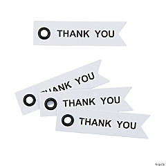 Paper Thank You Eyelet Tags