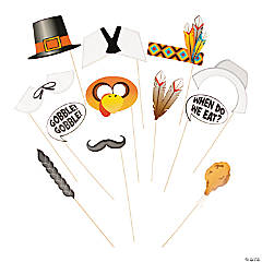 Paper Thanksgiving Photo Stick Props
