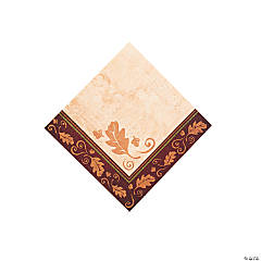 Paper Thanksgiving Turkey Beverage Napkins