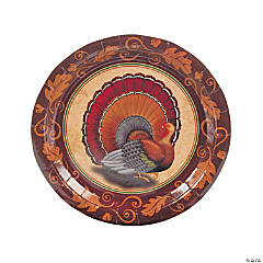 Paper Thanksgiving Turkey Dinner Plates