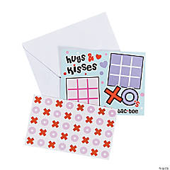 Paper Tic-Tac-Toe Valentine Sticker Cards