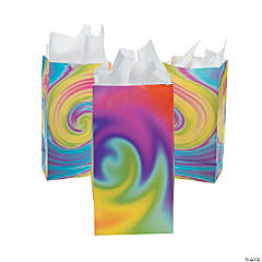 Paper Tie-Dyed Treat Bags