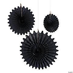 Paper Tissue Black Hanging Fans