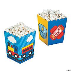 Paper Train Popcorn Boxes