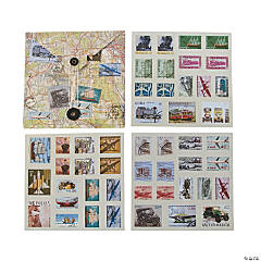 Paper Travel Stamp Stickers