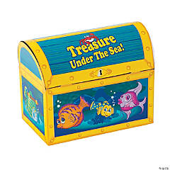 Paper Treasure Chest With Tropical Fish Treat Boxes