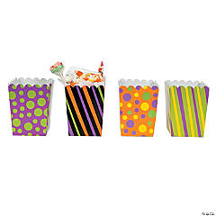 Paper Trick Or Treat Mini Popcorn Boxes