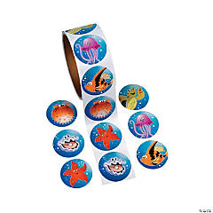 Paper Tropical Sea Life Sticker Rolls