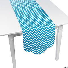 Paper Turquoise Chevron & Polka Dot Table Runner