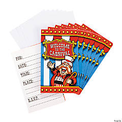 Paper Under the Big Top Invitations
