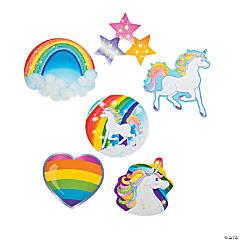 Paper Unicorn Glitter Cutouts